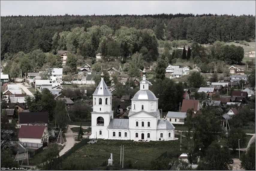 Церковь Богоявления Господня в Верее - церковь верея храм панорама вид лес горизонт фото фотосайт