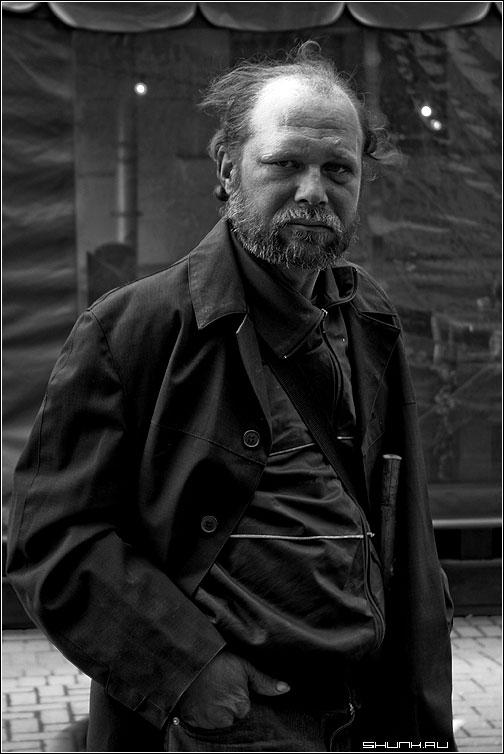 Портрет - бомж портрет чб чернобелый эх фото фотосайт