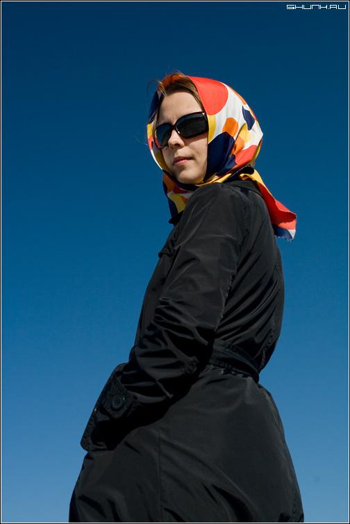 Слишком известная... - она актриса портрет небо краски девушка фото фотосайт