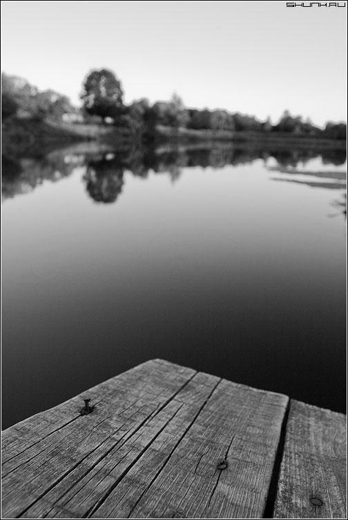 Про мосток - гвоздь мост чернобелая пруд фото фотосайт