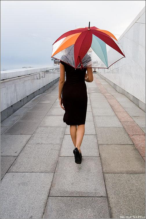 А был ли дождь? - девушка зонт ноги модель фото фотосайт