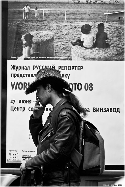 Репортаж - реклама шляпа ковбой мэн фото фотосайт