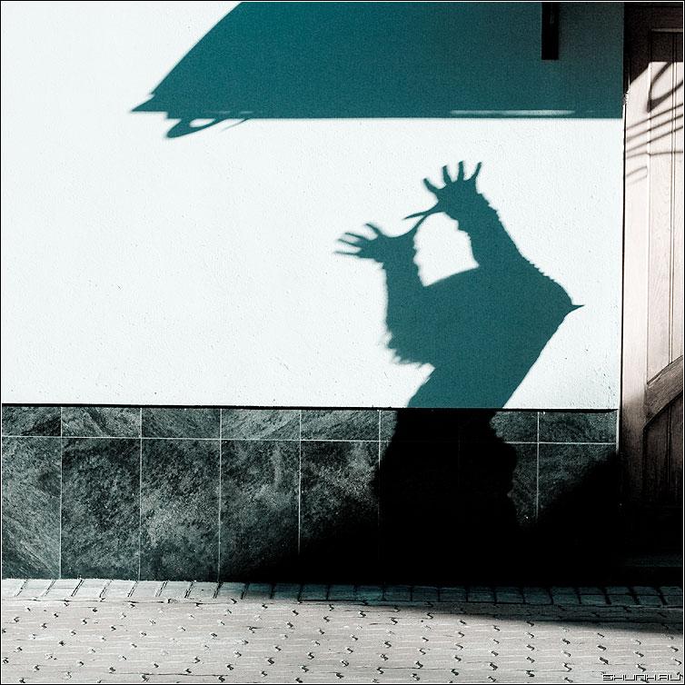 Жест - тень руки стена квадрат элемент cold фото фотосайт