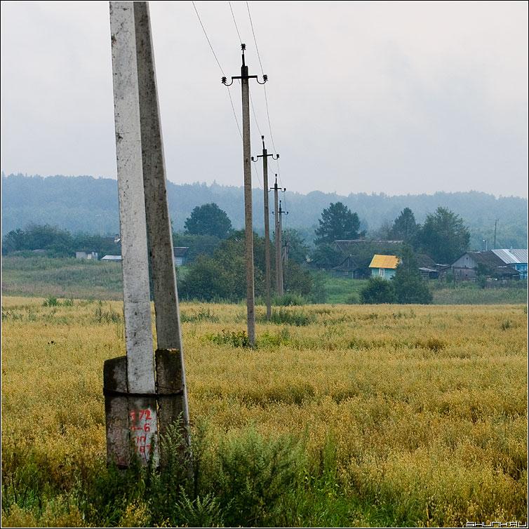 Про столбы - поле деревня рубцово столбы квадрат цвет фото фотосайт