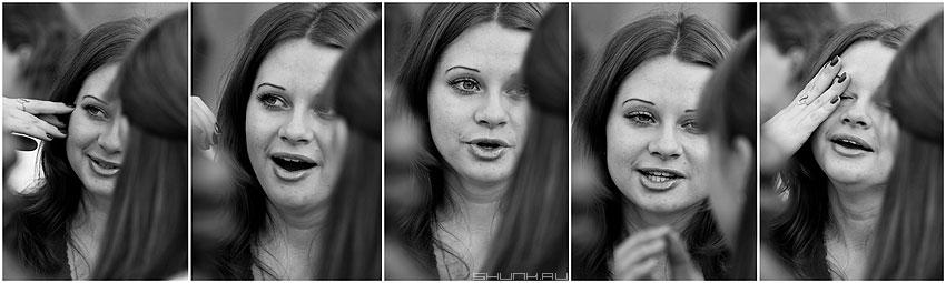 Разговор с подружкой - девушка чернобелая разговор эмоции фото фотосайт