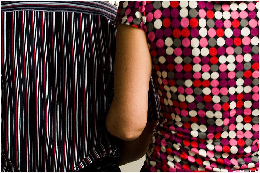 Кружочки да полоски - рубашка платье он она подруку фото фотосайт