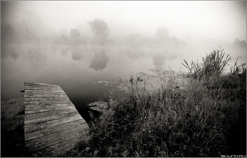 Мостик - деревня речка kodak пленка чернобелая фото фотосайт