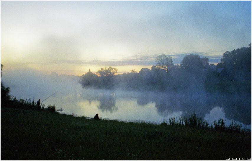 Рыбалка - пленка рыбалка рыбаки утро туман пруд шустиково деревня kodak фото фотосайт