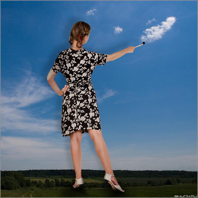 Как создаются облака - облака студия фотошоп девушка квадрат цвет фото фотосайт