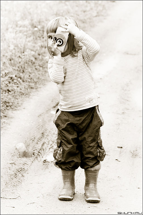 Дорога к Mark III - фотолюди фотодети ребенок фотоаппарат стилизация фото фотосайт