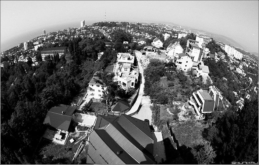 Глобус Сочи - сочи море небо город дендрарий черно-белая пленка фото фотосайт
