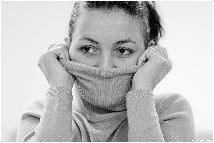 Без отопления - lm холод свитер портрет чернобелая фото фотосайт