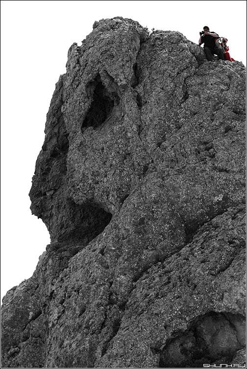 В погоне за лучшим кадром - скала фотографы черно-белая крым фото фотосайт