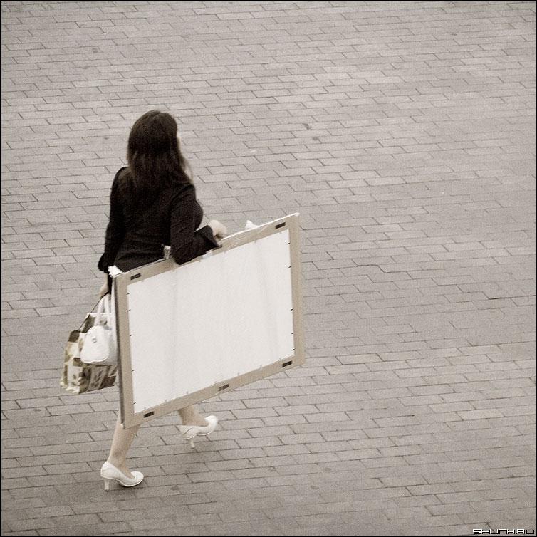 Художник - девушка художник профессия улица обработка люди фото фотосайт