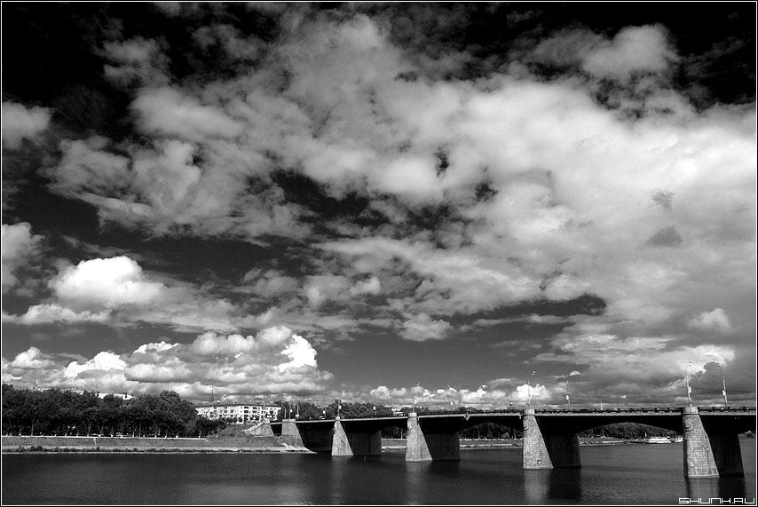 Небо над Волгой - небо тверь река волга черно-белая фото фотосайт