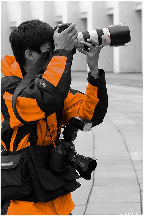 Мастер своего дела - палитра оранжевый фотограф фотолюди canon фото фотосайт