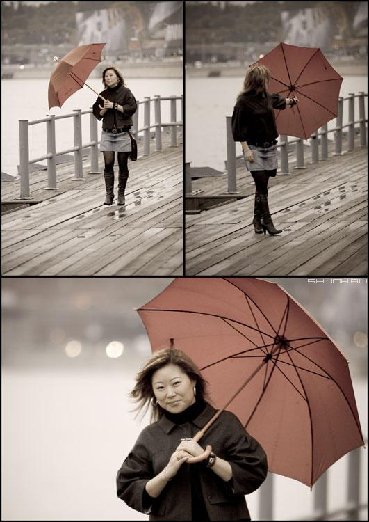 Про дождь - прогулка дождь набережная москва зонт коллаж фото фотосайт