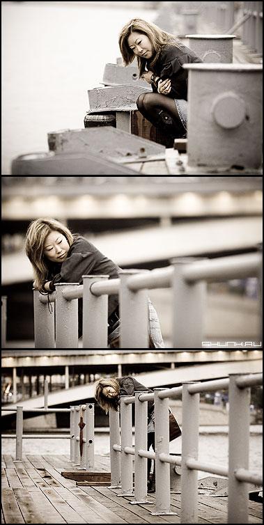 О грусти, наверное... - набережная девушка юбка обработка фотопрогулка москва фото фотосайт