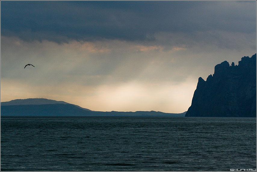 Когда ночь сменяет день - крым море горы солнце берег скалы обработка фото фотосайт