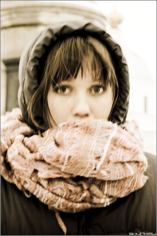 Зимнее.. - портрет девушка зимнее зима шарф фото фотосайт