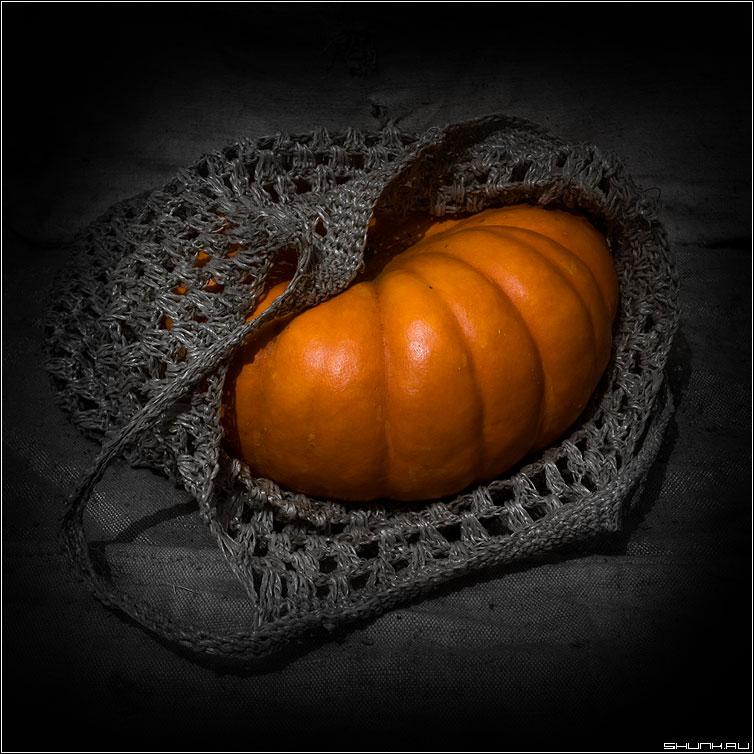Сахарная... - тыква сумка натюрморт оранжевый фото фотосайт