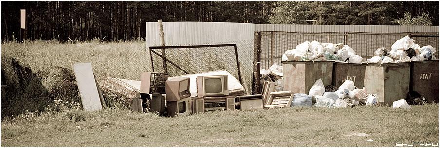 ...будет одно телевидение - помойка телевизоры adge 90x30 фото фотосайт