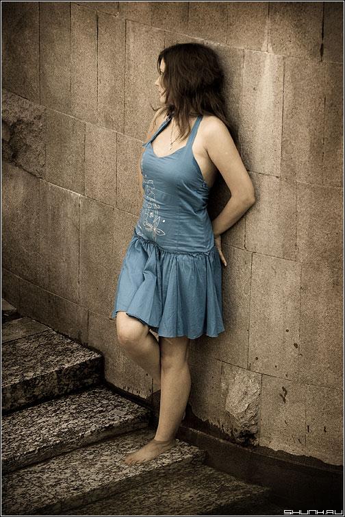 Из воды... - девушка вода фонтан платье манежка фото фотосайт