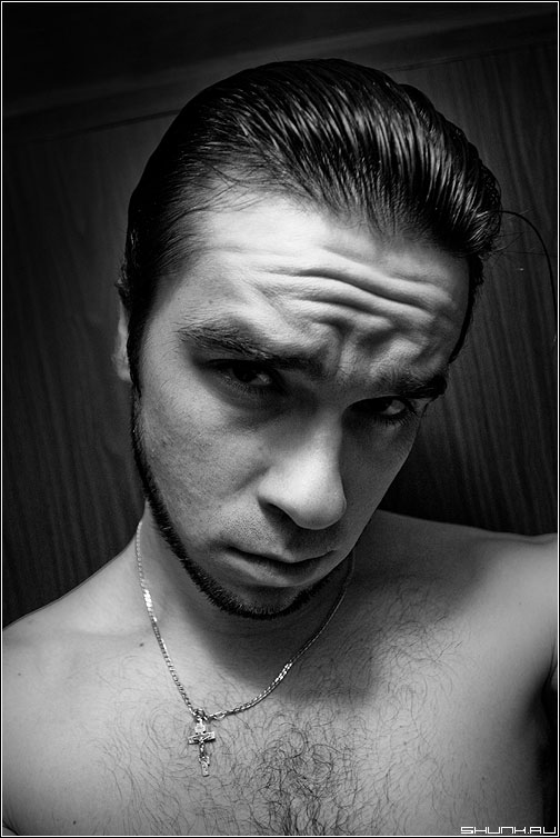Myself.. - я портрет жанр чёрнобелый борода морщины фото фотосайт