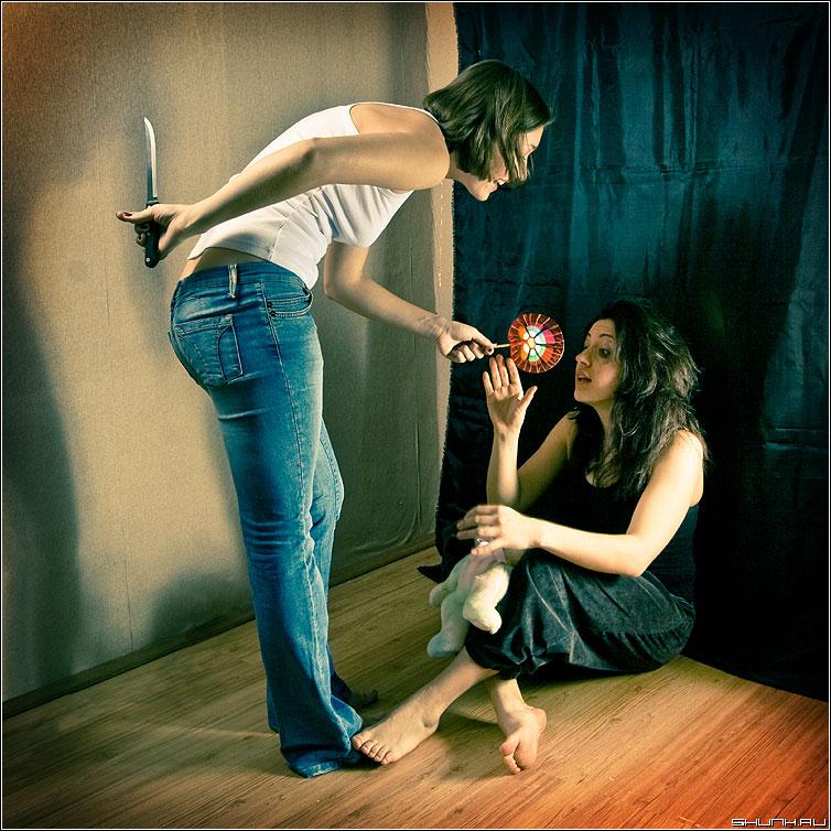 Про детскую наивность - студия джу кверти нож карамелька постановка квадрат цвет фото фотосайт