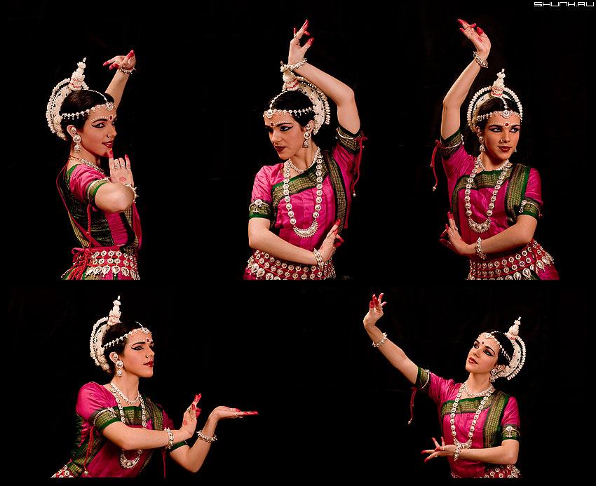 Еще немного про Индию - индия танец коллаж иро черное яркое фото фотосайт