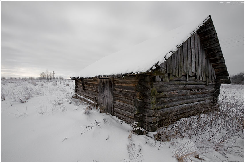 Перспективный сарай - сарай зима снег деревня зима новый год фото фотосайт