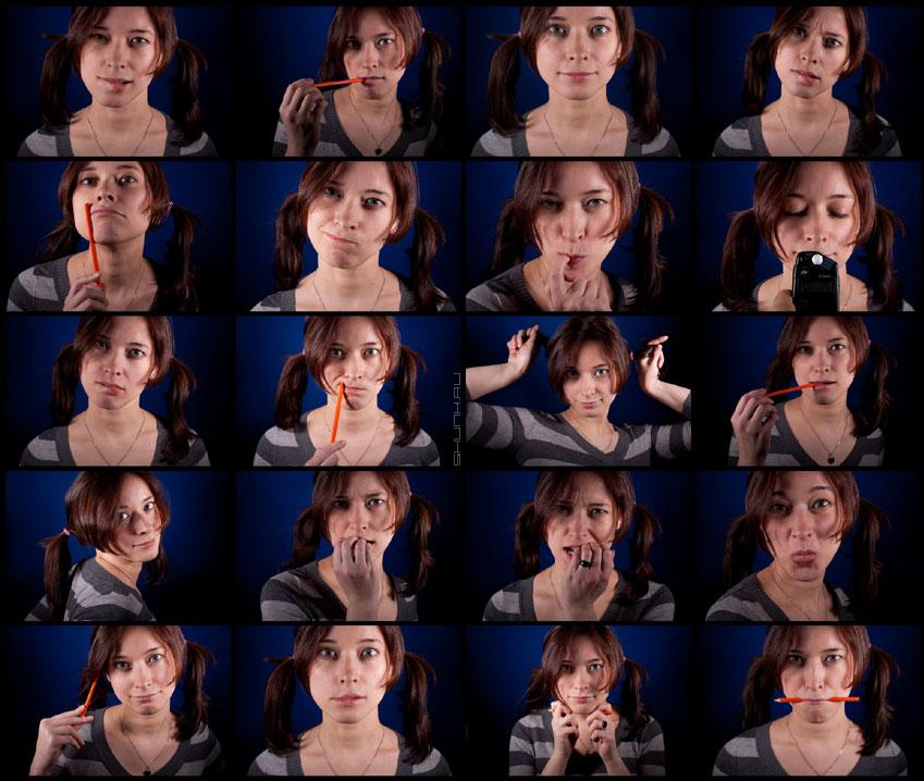 Найди 2 одинаковые! - нелли коллаж студия синий фон карандаш фото фотосайт