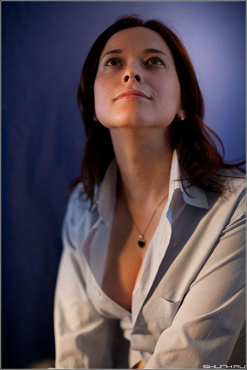 Синий портрет - студия портфолио портрет девушка глаза взгляд синее синий фото фотосайт