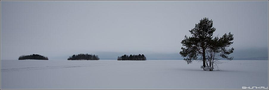 Арифметика природы - острова озеро карелия зима 90x30 фото фотосайт