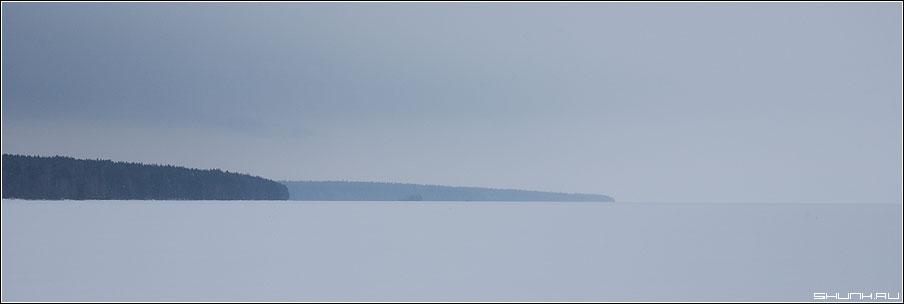 Стрела - лес озеро карелия зима снег лед туман фото фотосайт