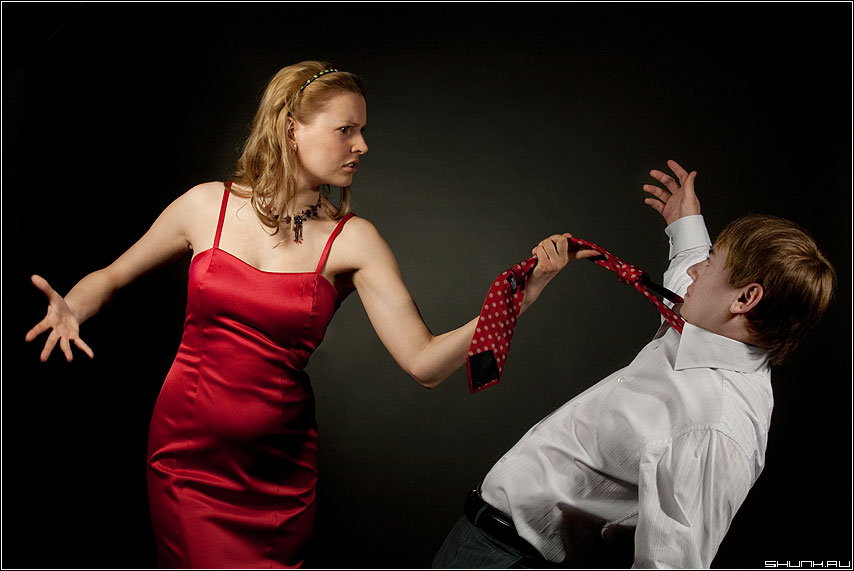 Семейные разборки... - студия пара лав стори love красное галстук шурик маша фото фотосайт