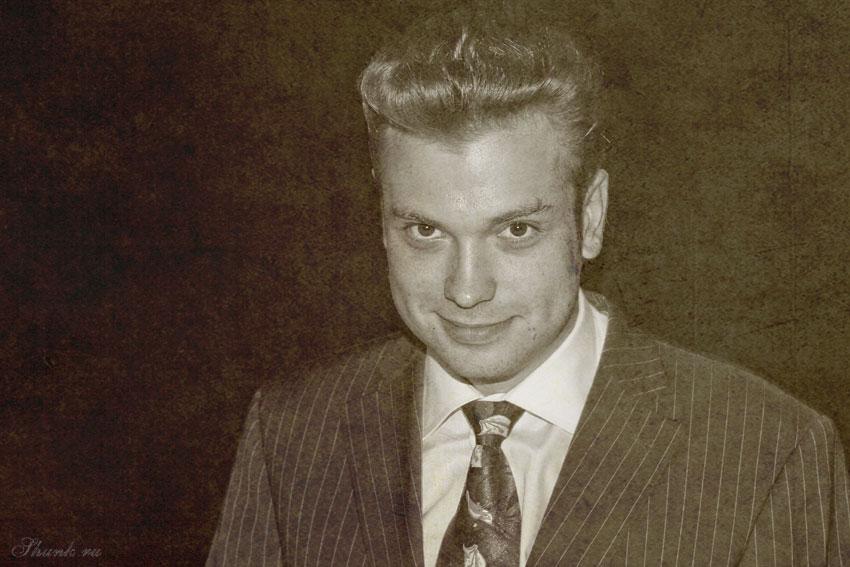 Винтажный портрет - портрет чел мэн галстук прича винтаж старение фото фотосайт