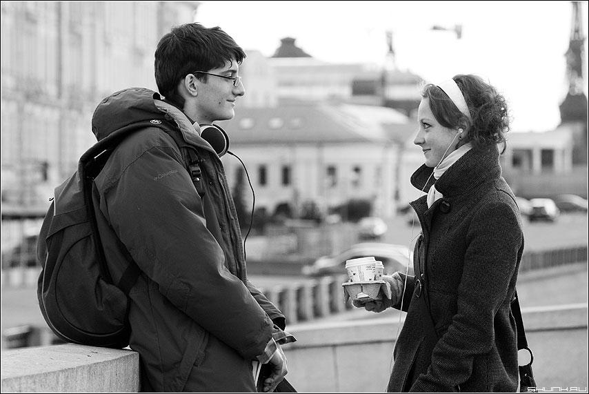 Кофе в постель - кофе пара он она любовь холод взгляд парочка фото фотосайт