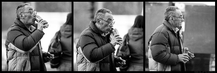 Пивное ТРИО - мужик пиво три квадраты вечер фото фотосайт