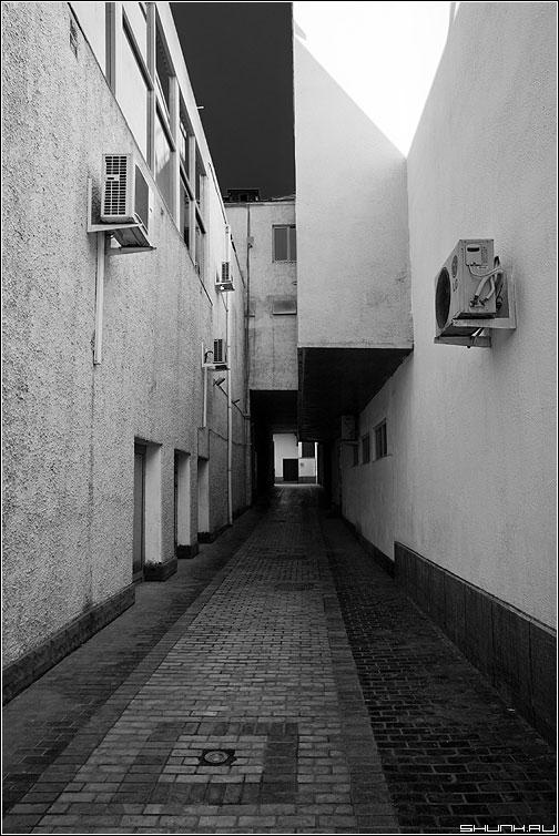 Критерий Коши сходимости последовательности - теорема пространтсво архитектура здания светотени чёрнобелые фото фотосайт