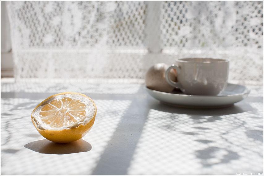 Утренний натюрморт - натюрморт чашка лимон яйца свет светлое солнечный фото фотосайт
