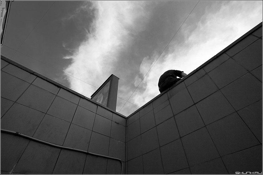 Галочка... - Ж небо переход архитектура город фото фотосайт
