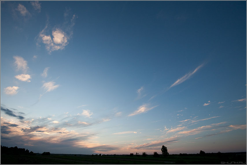 Небо 4 - небо тучи облака солнце свет панорама фото фотосайт