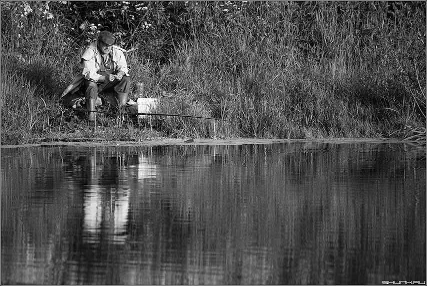 Рыбак - деревня пруд шустиково сторона рыбак удочка фото фотосайт