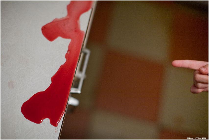 Блуд - кровь стол палец клетки ребенок случай фото фотосайт