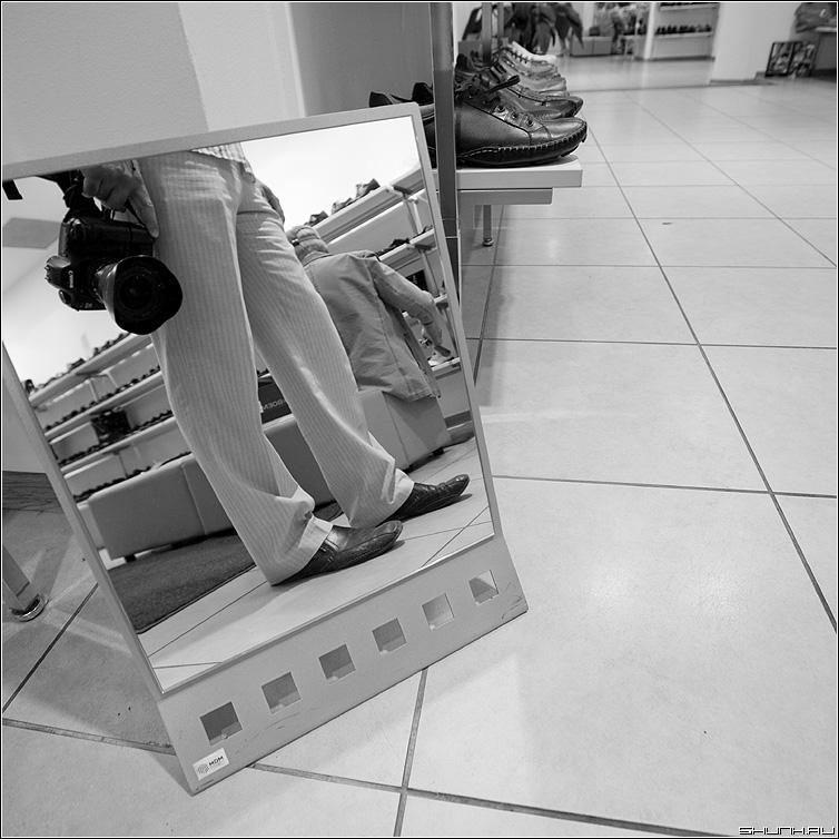 Про Обувь - обувной квадратное отражение зеркало фотоаппарат фото фотосайт