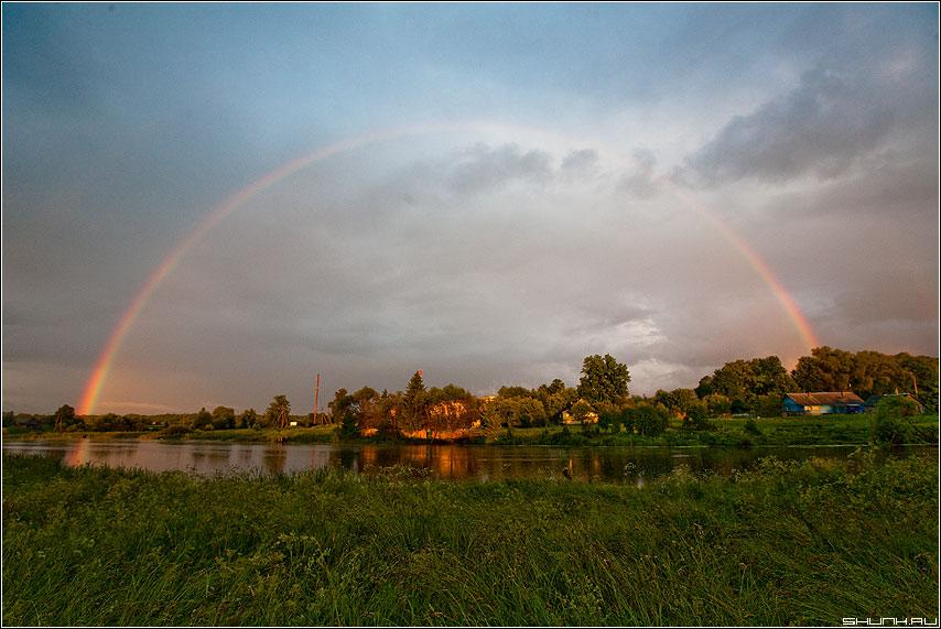 Радуга-дуга - радуга деревня шустиково небо дождь лето погода цвет фото фотосайт