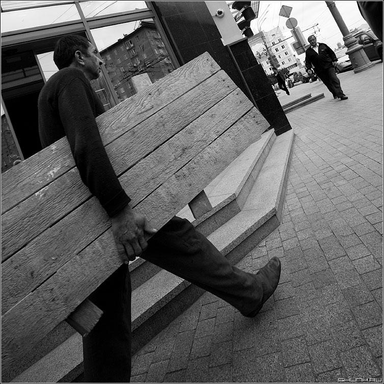 Работяга - доска строитель улица квадратное люди шаг фото фотосайт