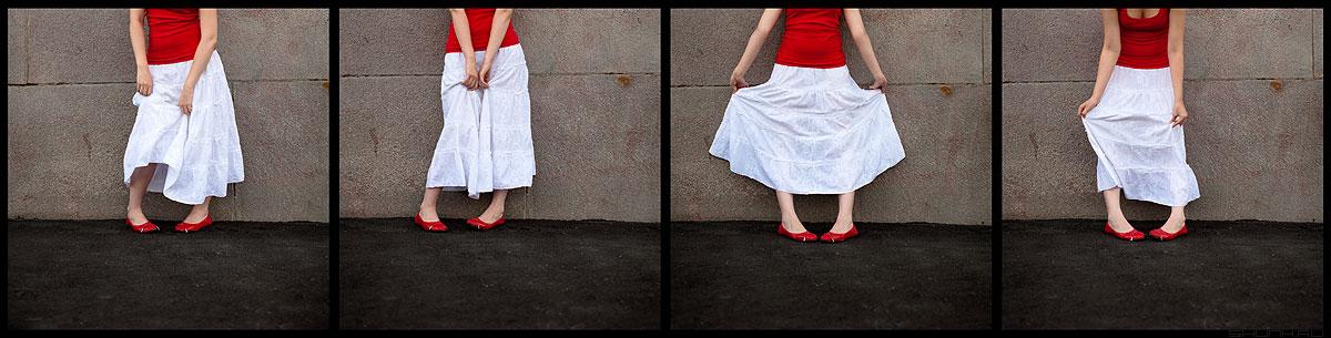 История одной юбки - коллаж юбко анна юбка руки позы квадраты фото фотосайт