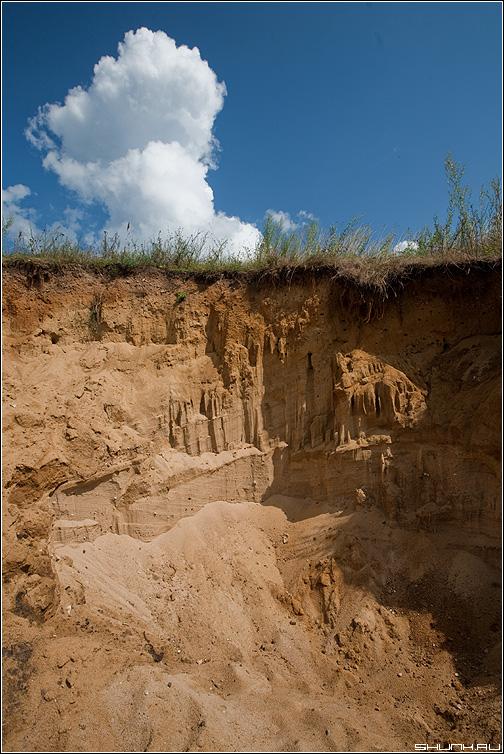 Карьерный рост - карьер песок облако небо небесное деревня фото фотосайт